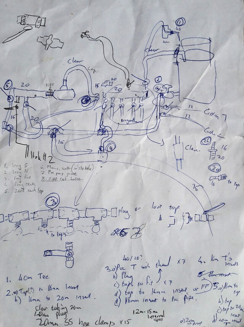 Connecting Wellpoints To Pump How Hard Could It Be Pedrollo Wiring Diagram Hand Drawn Showng Connections Needed For Etc